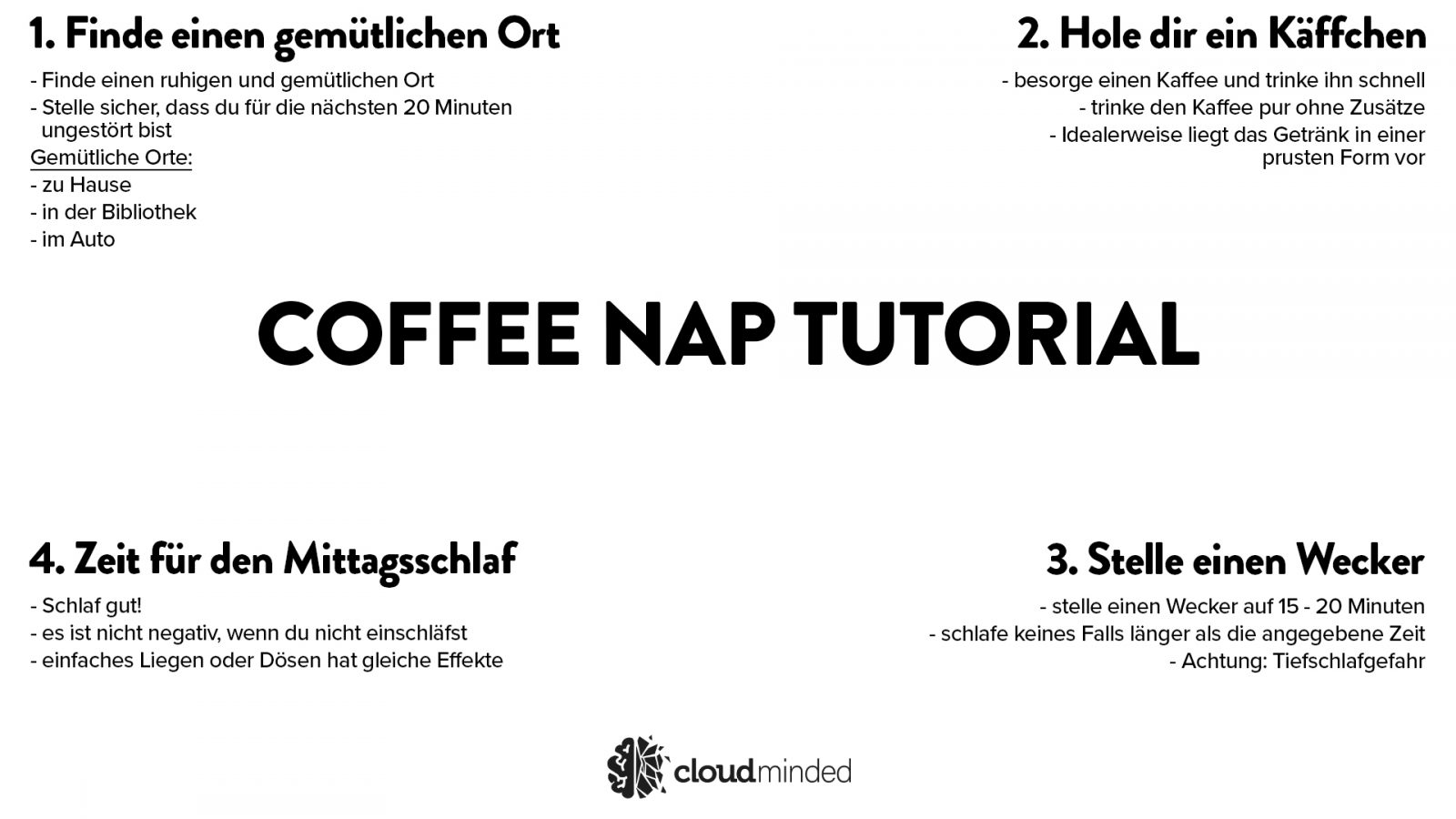 Coffee Nap Tutorial